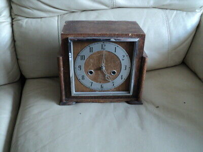 Smiths Enfield Striking Mantel Clock Not Working For Part Or Repair