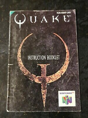 Quake manual Nintendo 64 N64 booklet only