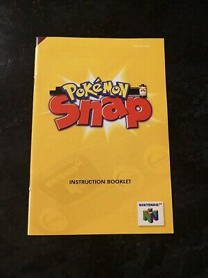 Pokemon Snap manual Nintendo 64 N64 booklet only