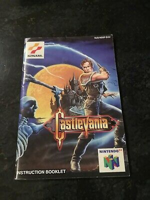 Nintendo 64 Castlevania N64 manual only booklet PAL