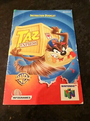 Taz Express manual Nintendo 64 N64 booklet only