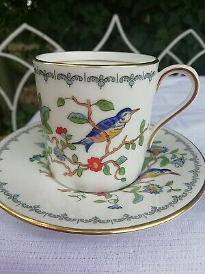 Vintage Aynsley  Pembroke Pattern Coffee Cup Can Demi Tasse & Saucer Replacement