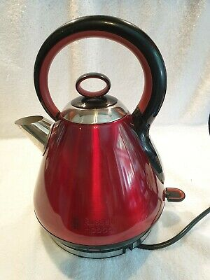 Russell Hobbs Legacy Quiet Boil 3000w 1.7L Kettle Red 21885 unboxed