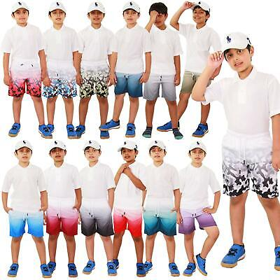 Kids Boys Girls Shorts Two Tone Summer Chino Short Knee Length Half Pant 3-13 Yr