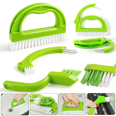 3 in 1 Tile Grout Brush Cleaning Cleaner Mould Remover Narrow Scrub Stiff Stain