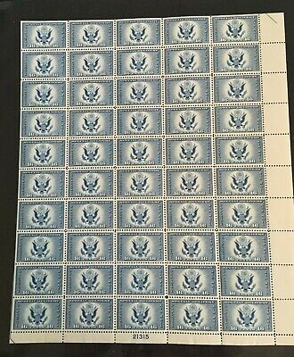 CE1 16 cent AIR POST SPECIAL DELIVERY ISSUE Full Mint Sheet Of 50 MNH OG