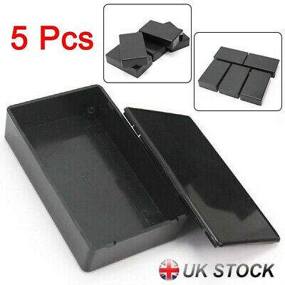 5 Pcs ABS Plastic Enclosure Box For Electronic Project Circuit Black Case DIY