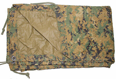 USMC Military MARPAT Woodland Digital REVERSIBLE FIELD TARP Tarpaulin 90x80 GC
