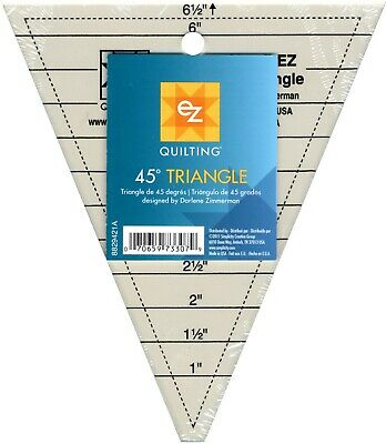 Ez 45 Degree Triangle Acrylic Template - Multi Size -  Patchwork Quilting