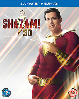 Shazam! (Blu-ray 3D) Zachary Levi, Mark Strong, Asher Angel, Jack Dylan Grazer