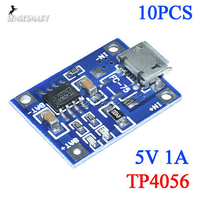 10PCS MICRO USB 5V 1A Lithium Battery Charging Power Module TP4056 Charger Board