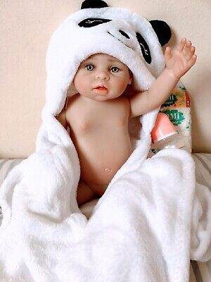 16inch 41cm Reborn Dolls Soft Silicone Real Baby Girl With Blanket Nappy