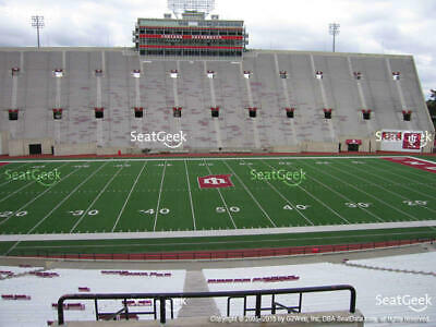 Indiana vs Eastern Illinois Football Sec 27 Row 44 Includes Parking Pass Lot 10