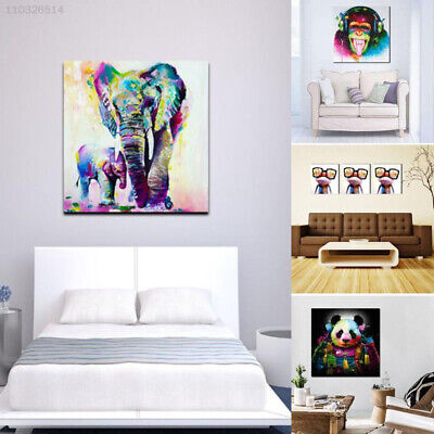 Watercolor Oil Painting Wall Painting Home Craft Decor Picture Modern Elephant