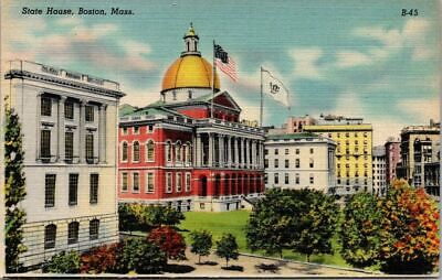 Postcard Post Card State Capitol Building Boston Mass. B-45