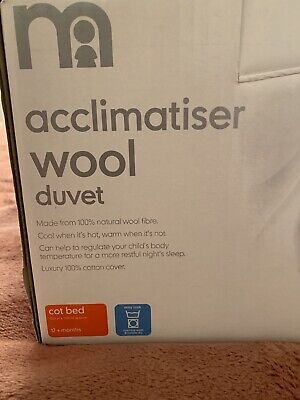 Mothercare Acclimatiser Wool Cot Bed Duvet Excellent Condition Hardly Used