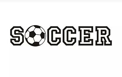 Soccer Sports Black Car Truck Decal Sticker Motorcycle