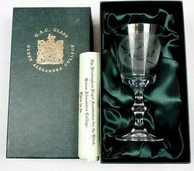 Queen Alexandra College Spitfire Glass in presentation Box with Authentic Certif