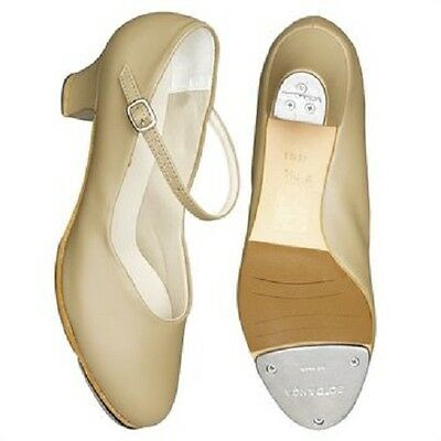 "So Danca TA55 Tan Women's 8.5 (Fits 8) Medium Tara 1.5"" Heel Character Tap Shoe"