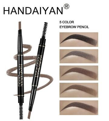 5 Color Double Ended Eyebrow Pencil Waterproof Long Lasting No
