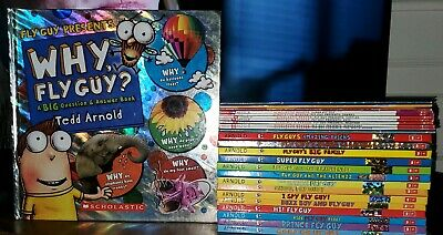 Lot of 25 Fly Guy and Alienzz Tedd Arnold Children's Books Why Fly Guy? Mixed Lo