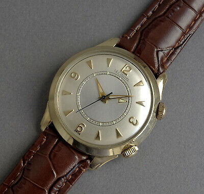 JAEGER LECOULTRE 10K Gold Filled Memovox Wrist Alarm Watch 1955
