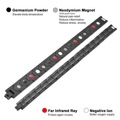 Magnetic Health Bracelet Far Infrared Negative Ion Therapy Bangle Chain HS1311