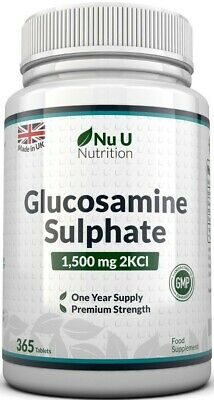 Glucosamine Sulphate 1500 mg 2KCl Tablets, 365 One Year Supply Supplement