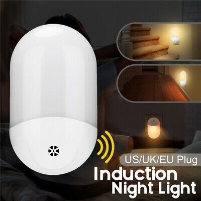 Automatic LED Night Light Wall Plug In Warm Dusk to Dawn Sensor Light White RC97