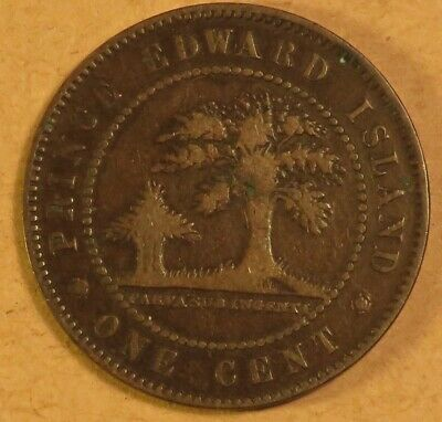 OLD CANADIAN COIN 1871 PRINCE EDWARD ISLAND LARGE CENT - BRONZE - Victoria