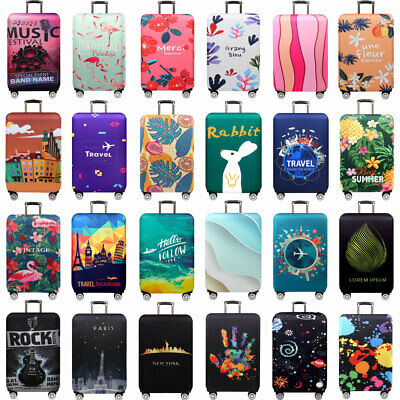 "Printed 18""~32"" Elastic Travel Luggage Suitcase Dust Cover Protective Case Cover"