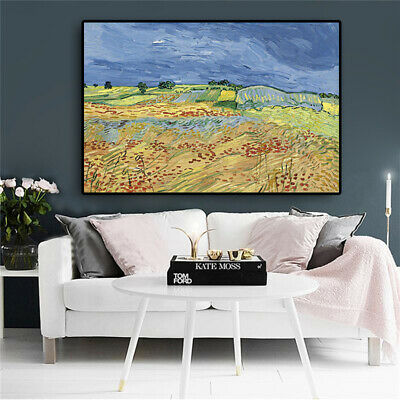 Field Crows Van Gogh Abstract Oil Painting on Canvas Posters and Prints
