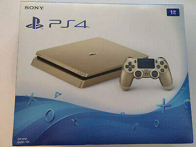 New Sony PlayStation 4 Slim [Limited Edition] 1TB Gold Console