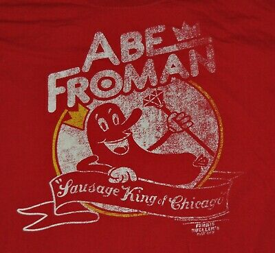 t-shirt large ferris bueller abe froman sausage king chicago 23 inches pit2pit