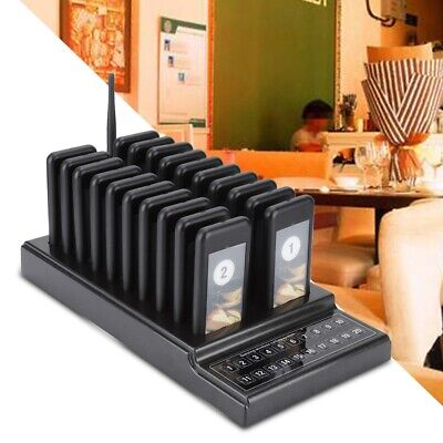 20 Call Pagers Wireless Resturant Guest Coaster Paging Queuing System Service TG