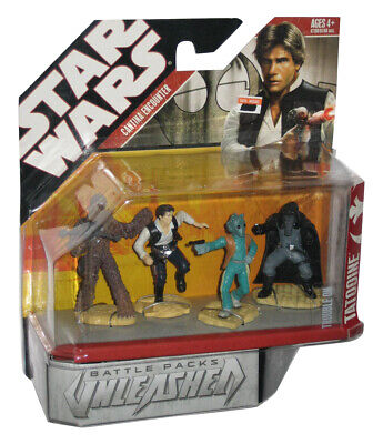 Star Wars Unleashed Cantina Encounter Trouble On Tatooine Figure Set 4-Pack