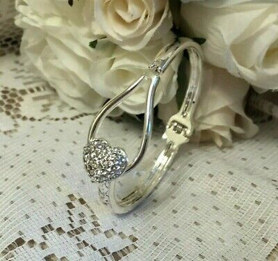EQUILIBRIUM HEART BRACELET BANGLE SILVER wedding gifts from the bride bridesmaid