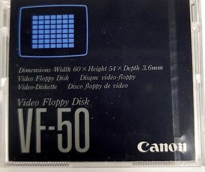 CANON VF-50 Video Floppy Disk Dimensions: 60x54x3.6mm