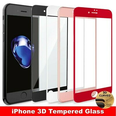 3D Full Cover Tempered Glass Screen Protector Guard for iPhone 6 6S 7 8 Plus X