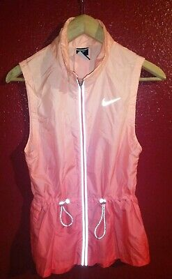8f3bb6461 NWT$110 NIKE WOMEN Gradient Running Vest Jacket Daring Red Sunset ...