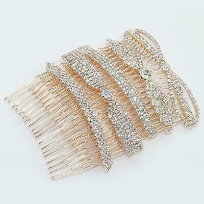 Bridal Hair Comb Hair Jewelry Crystal Rhinestone Hair Clips Pins Combs Access