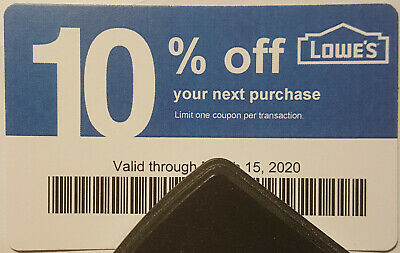 Twenty (20) LOWES Coup0ns 10% OFF At Competitors ONLY not LowesExp Mar 15 2020