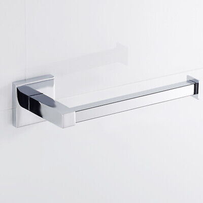 Bathroom Square Toilet Paper Roll Holder Chrome Modern Wall Hanger Accessories