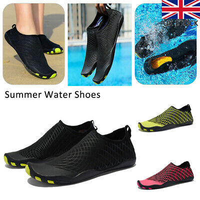 Men Women Water Shoes Aqua Shoes Beach Wetsuit Shoes Dive Swimming Surf Shoes UK