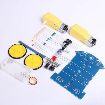 2WD DIY Smart Tracking Line Robot Car Suite Chassis Reduction Motor For Arduino