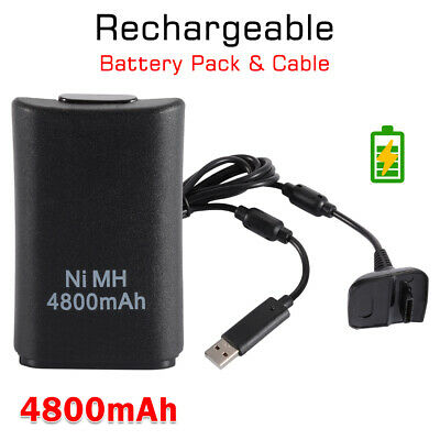 2 in 1 Charger Cable + Rechargeable Battery Pack for Xbox360 Controller AC1744