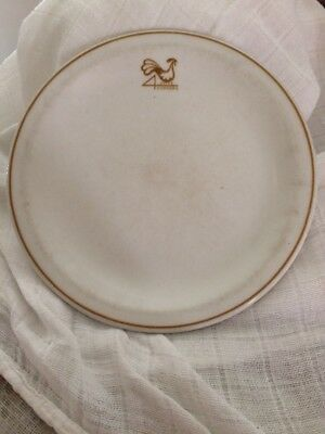 Vintage Restaurant / Hotel Ware 4 Corners Rooster Round Plates
