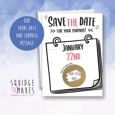 Save the date Surprise Scratch Personalised* holiday reveal* Gift we're going