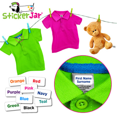 Stick On Name Labels for Clothes Clothing Stickers STICK-A-TAG® ST01