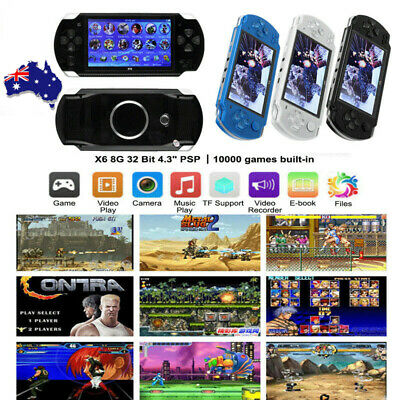 """AU 4.3"""" 8GB Portable Video PSP Handheld Game Console Player Built-In 10000 Games"""